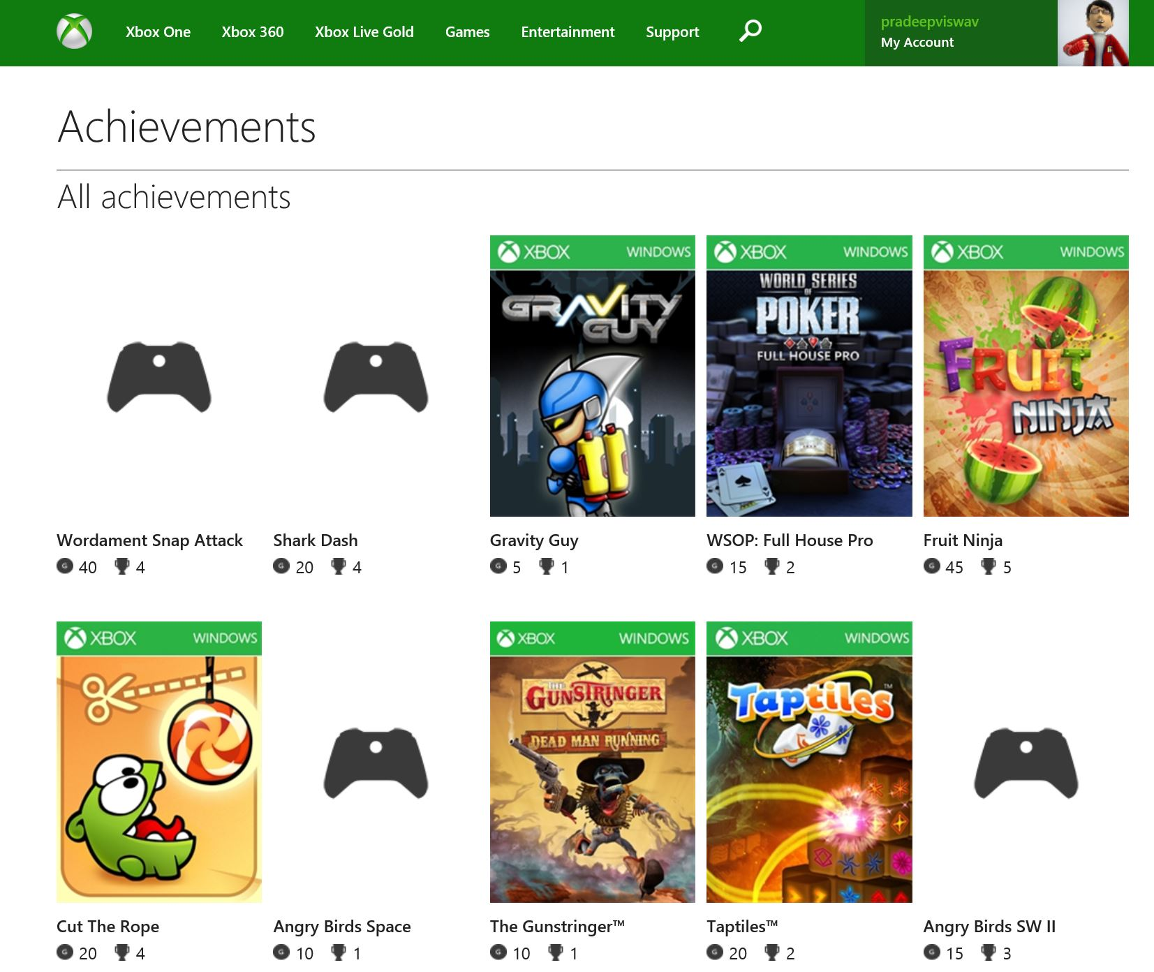 Xbox Achivements