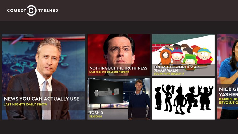 Comedy Central App Windows Store