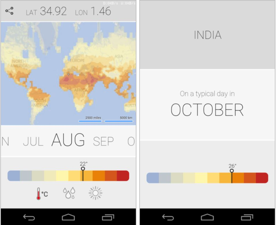 Microsoft Research Climatology Android app
