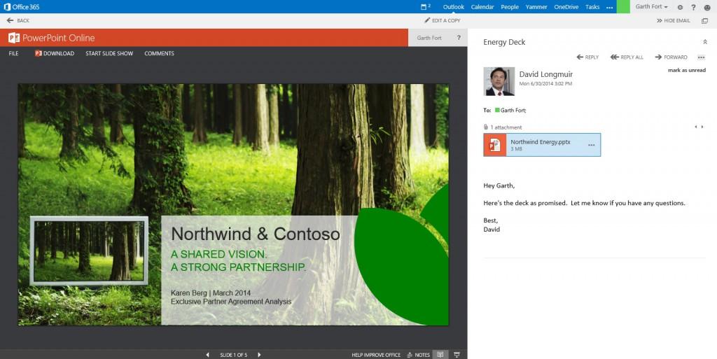 Office 365 Outlook Web App Doc Edit
