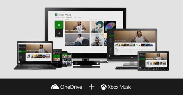 OneDrive Xbox Music
