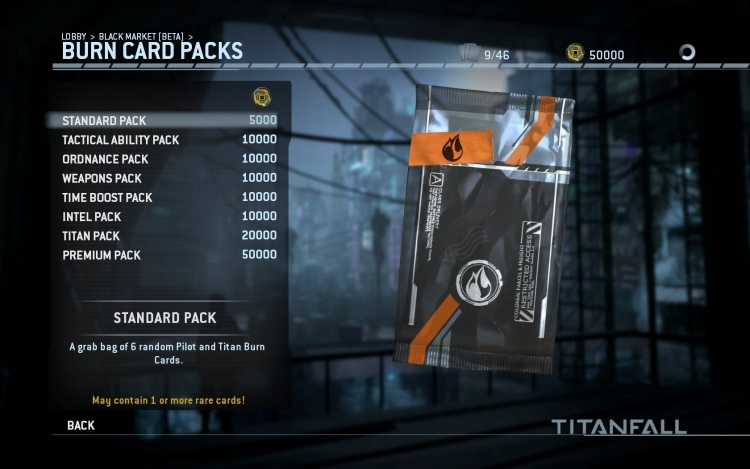 Titanfall Burncard Packs