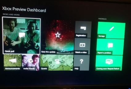 Xbox Preview Dashboard