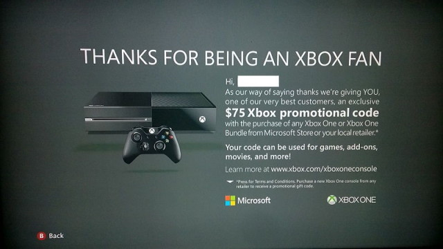 Xbox Promo Code $75