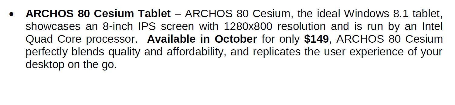 Archos 80 Cesium 1