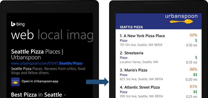 Bing App Linking