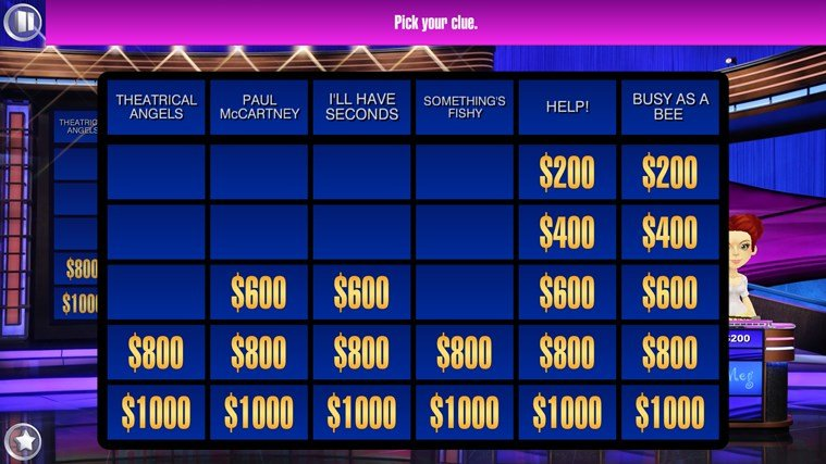 Jeopardy Windows Store