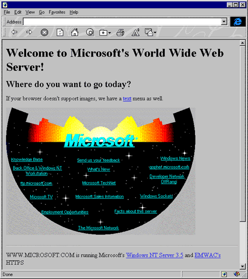 Microsoft Website 1994