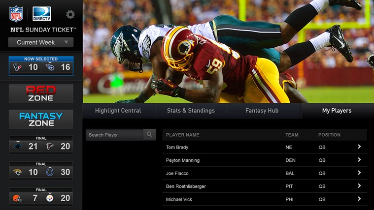 NFL Sunday Ticket Windows Store
