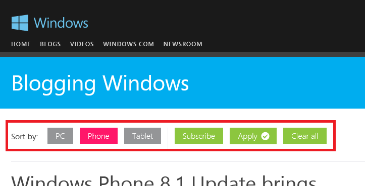 Windows Blogs