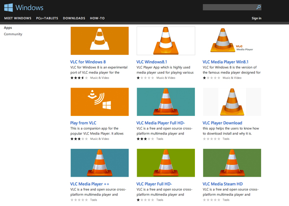 Windows Store VLC Player