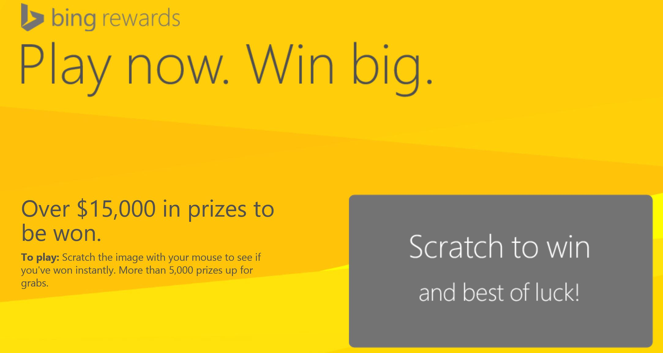 Bing Scratch And Win
