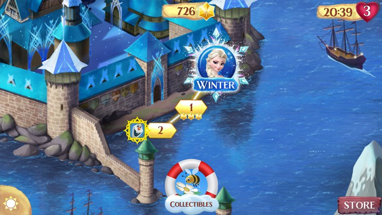 Frozen Free Fall Windows Store 1