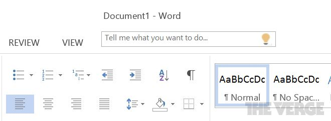 Office 16 Tell Me Screenshot