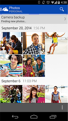 OneDrive Android All Photos