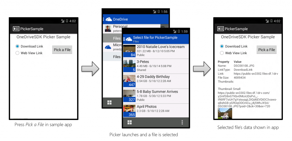OneDrive Android File Picker