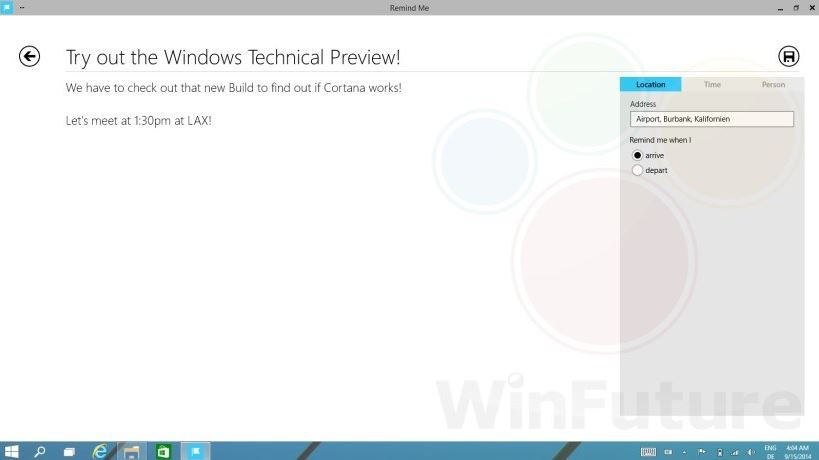 Windows 9 Cortana 1