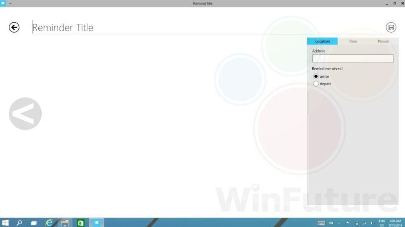 Windows 9 Cortana 2