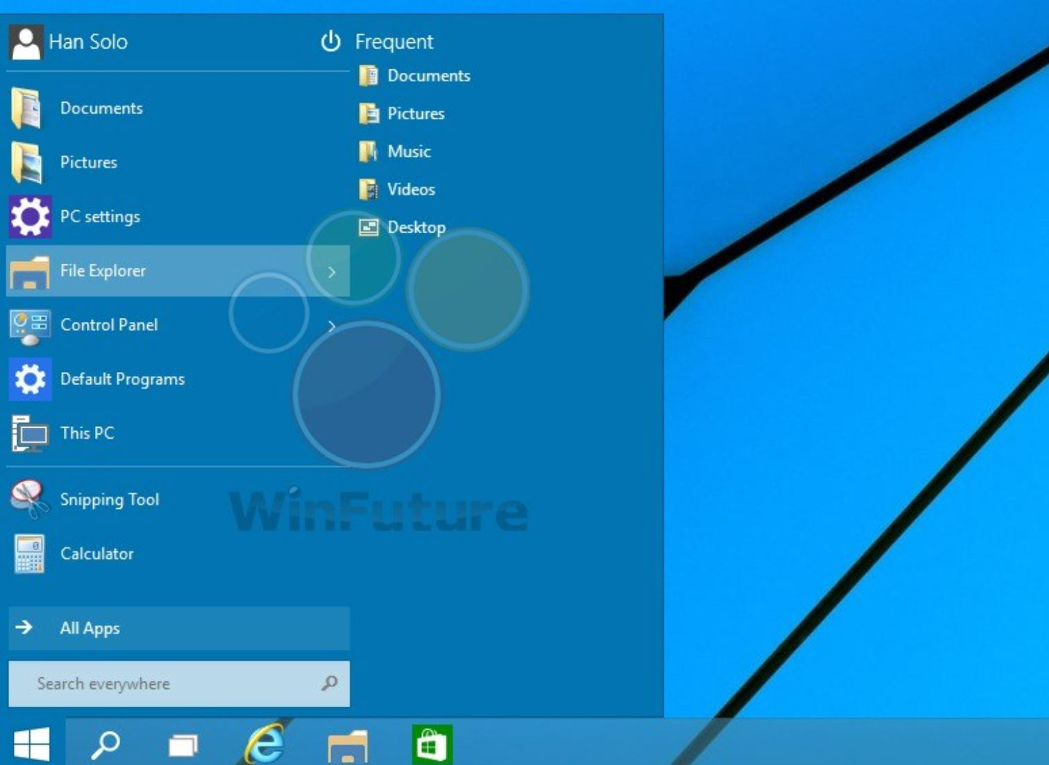 Windows 9 Start Menu
