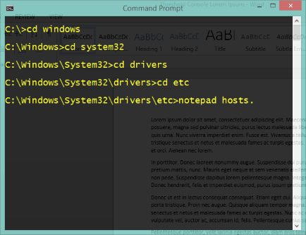 Command Prompt Windows 10 Technical Preview
