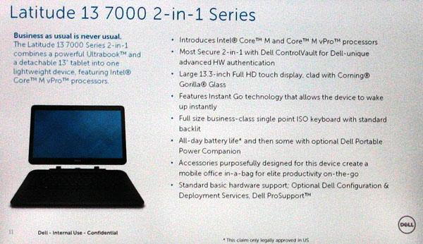 Dell Latitude 13 7000 specs