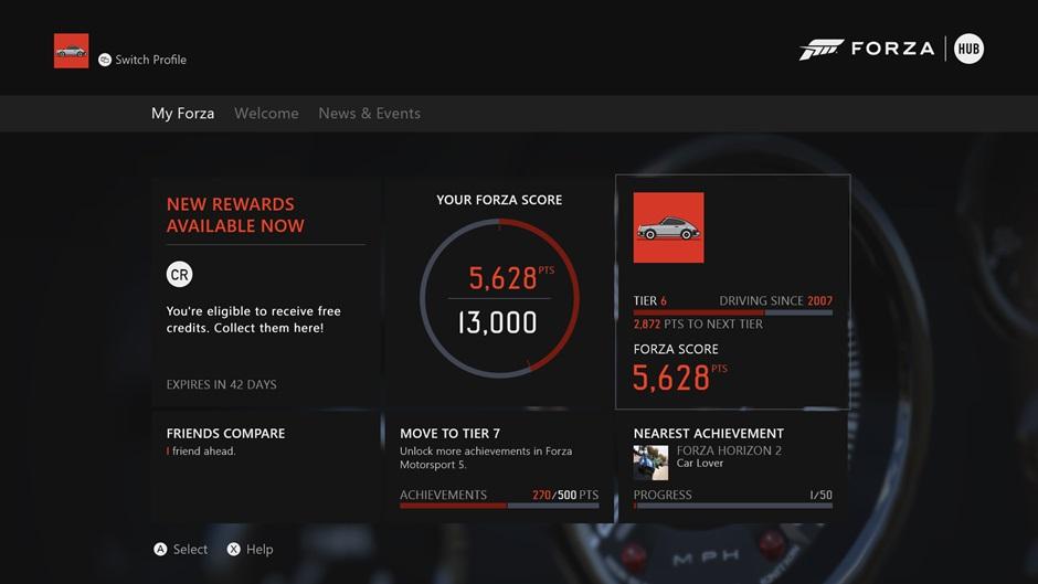 Forza Hub Xbox One