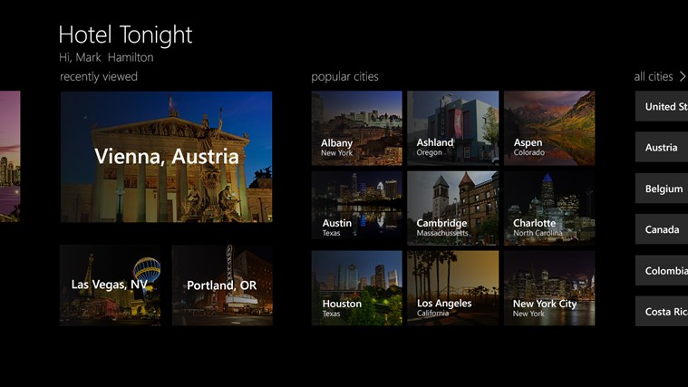 Hotel Tonight App Windows Store