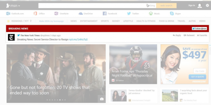 Microsoft's MSN Portal Will Now Feature A Tweet As Their Breaking News ...