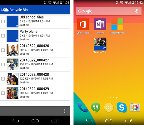 OneDrive for Android update