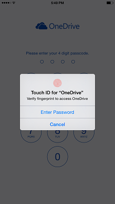 OneDrive for iOS8