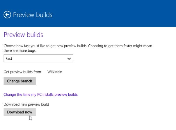 Windows 10 Preview Builds