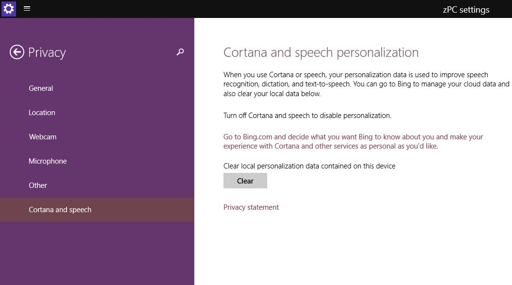 Cortana Speech Windows 10