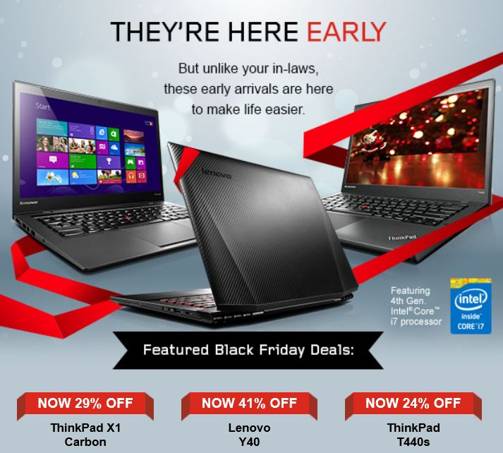 Lenovo Black Friday