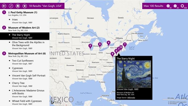 Microsoft City Art Search Windows Store