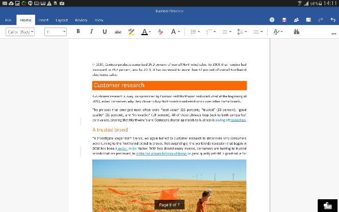 Office for Android Word