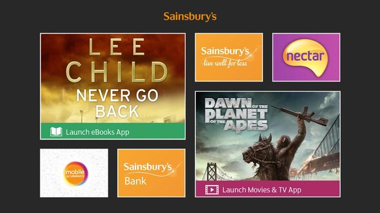 Sainsbury's Windows Store