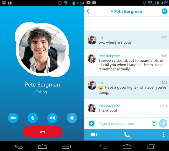 skype for android has a serious bug which allows to you microsoft is working on a