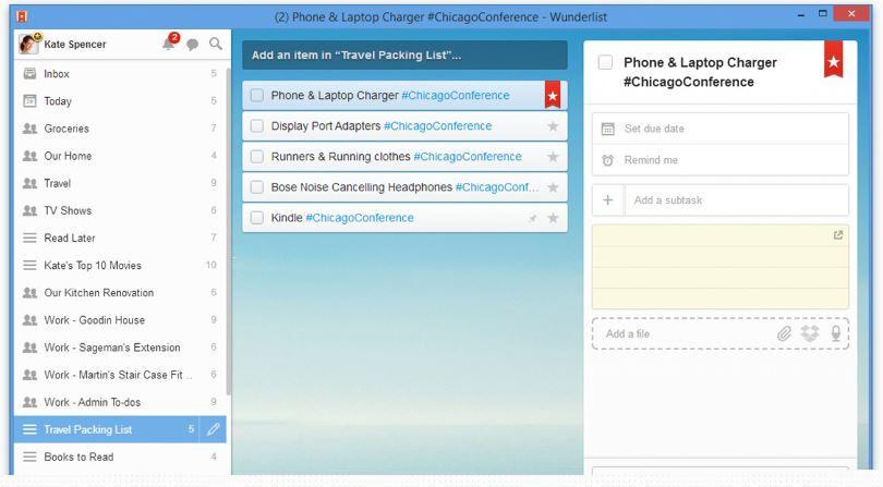 Wunderlist Releases Desktop App Windows 7 Users, Updates
