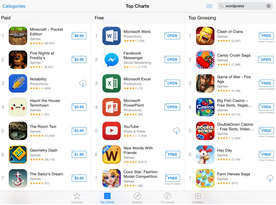 Microsoft Office Suite Apps Are Ruling The Apple App Store Charts ...