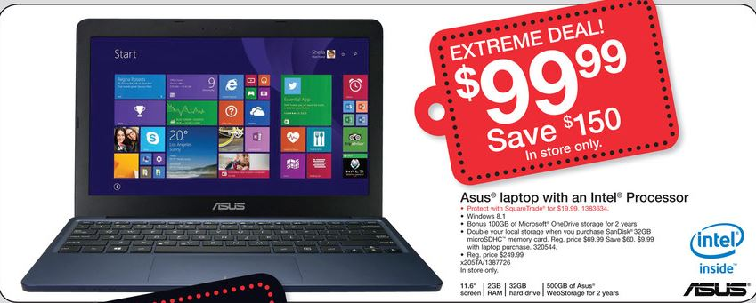 Asus Windows Laptop For 99 Free Kindle Reader With Laptops Priced Above 399 And Huge Savings On Lots Of Other
