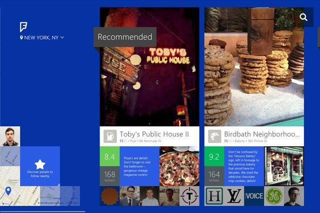 Foursquare Windows Store