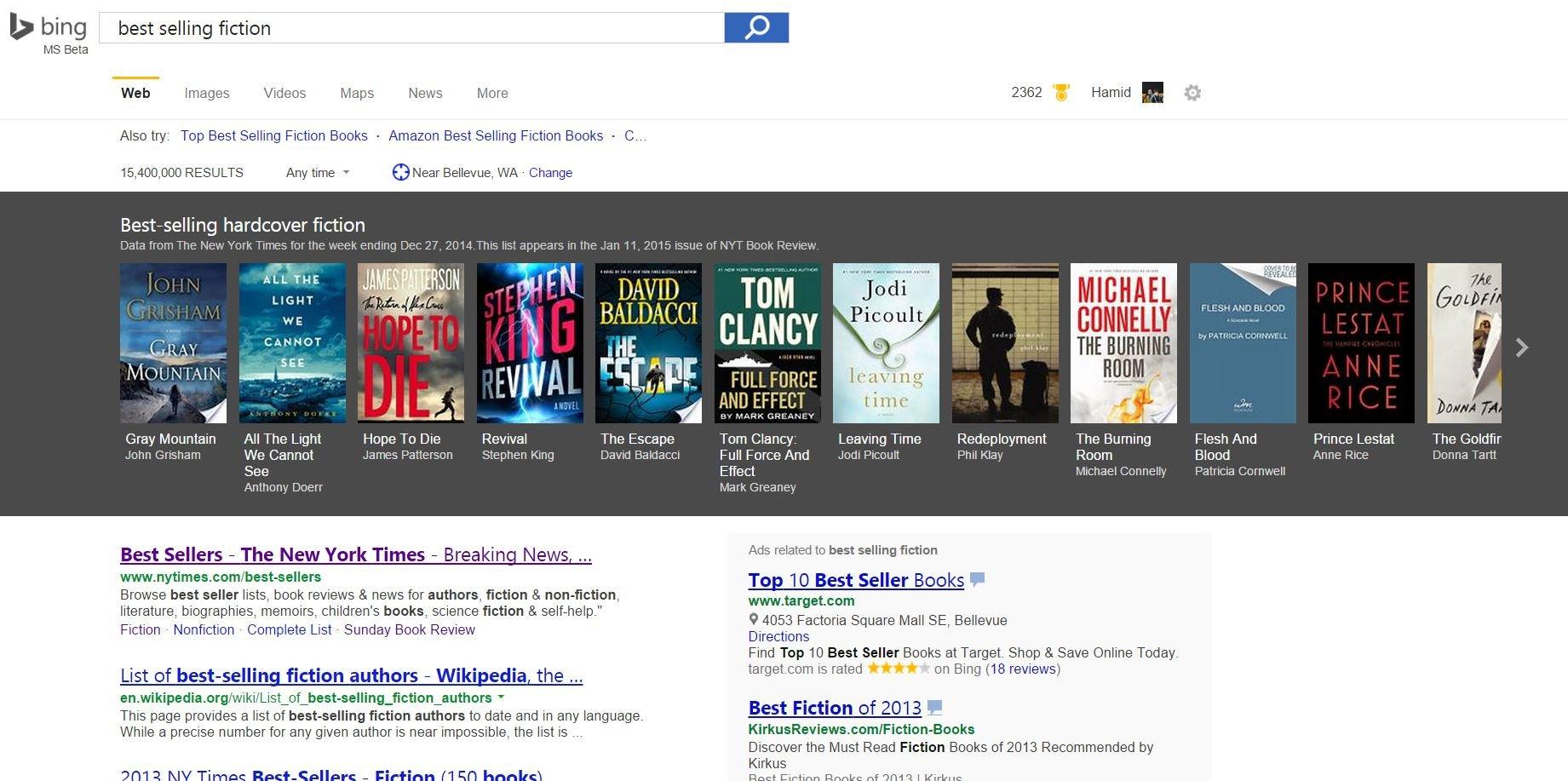 Bing Book Search