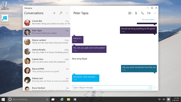 Message App Windows 10