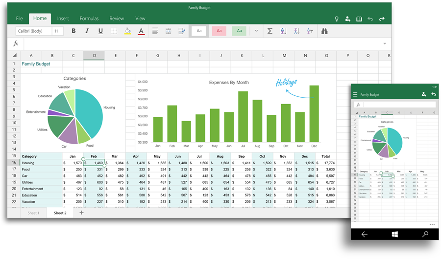 Office Excel Windows 10