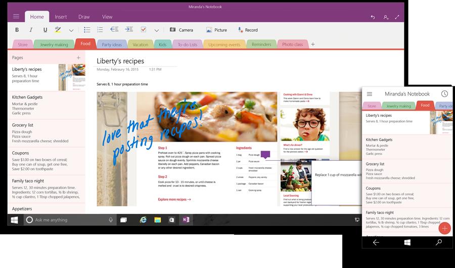 Office OneNote Windows 10