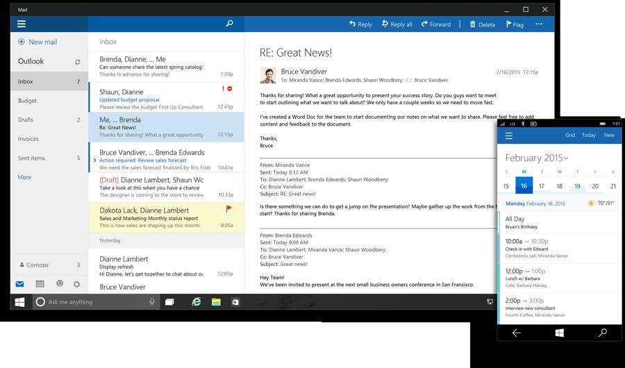 Office Outlook Windows 10