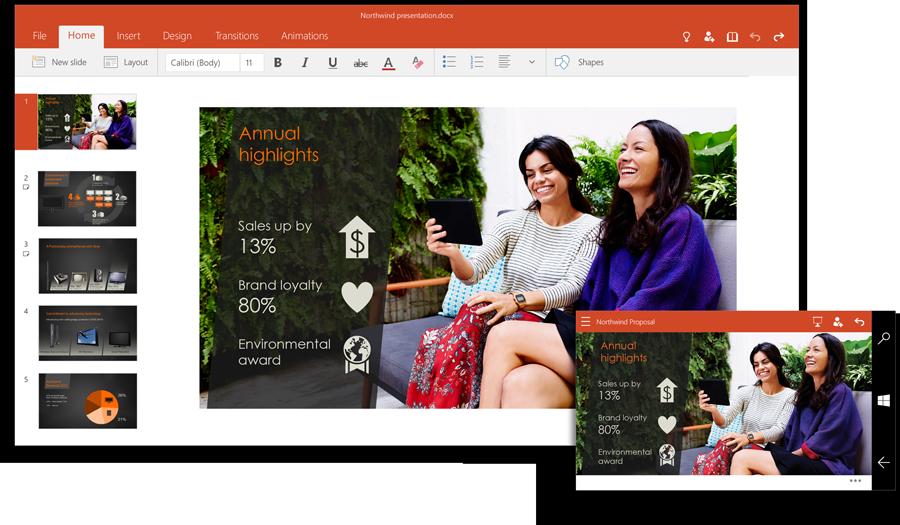 Office Powerpoint Windows 10