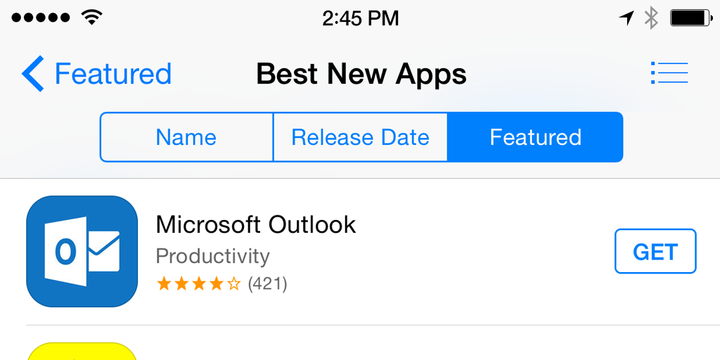 Outlook Best New Apps
