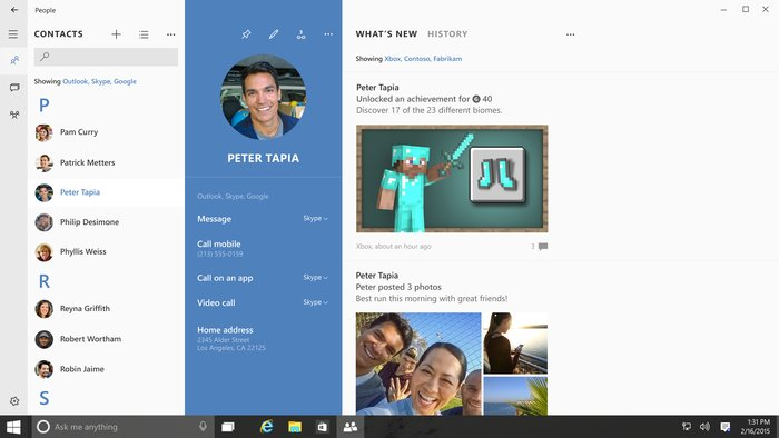 Skype People App In Windows 10