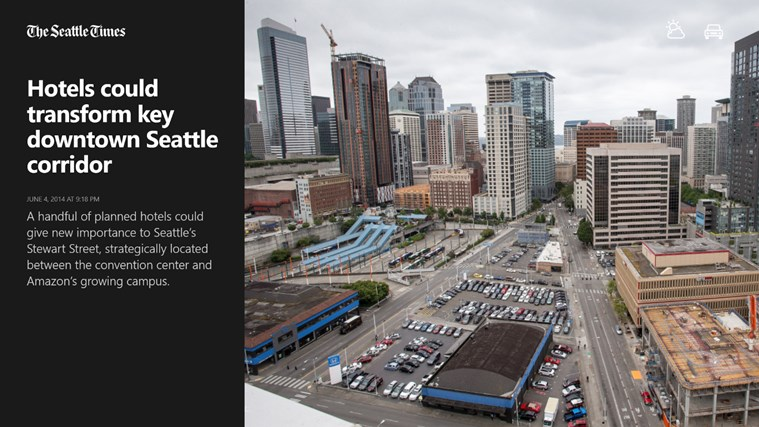 The Seattle Times Windows Store app